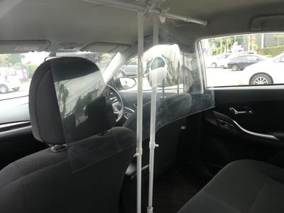 案内車内の飛沫感染防止策
